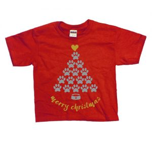 Red Merry Christmas Kids Tee from Pixel and Polly