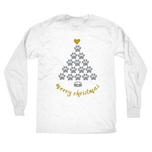 Merry Christmas Longsleeve Tee from Pixel and Polly